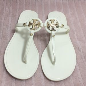 Tory Burch mini miller jelly sandals thong size 7